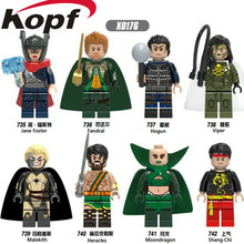 Single Sale Super Heroes Fandral Viper Malekith Moondragon Jane Foster Hogun Bricks Building Blocks Children Gift Toys X0176