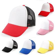 6 Colors Baby Baseball Caps Summer Girls Boys Blank Foam Mesh Hats for 3-8 Years Old(China)