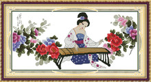 The tang dynasty had in China cross-stitch/ don't fade in the bedroom adornment picture/ Free Shipping