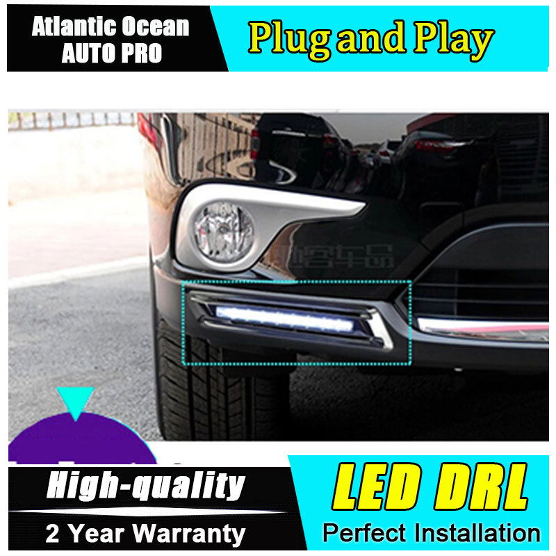 AUTO PRO for Car Styling Toyota Highlander LED DRL parking For Toyota Highlander led fog lamps daytime running light cover light<br><br>Aliexpress