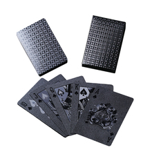 Merry Christmas! 3D-Printing Advanced Black Diamond Plastic Cards Playing Cards Waterproof PET Poker Cards(China)