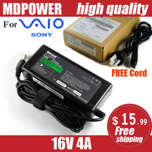 MDPOWER For Sony SONY 16V 4A 65W Laptop Power AC Adapter Charger Cord