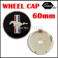20 X BLACK RUNNING HORSE 60MM CAR WHEEL Hub Center LOGO Caps Metal Aluminum emblem badge Fits for Mustang #SO298(China)