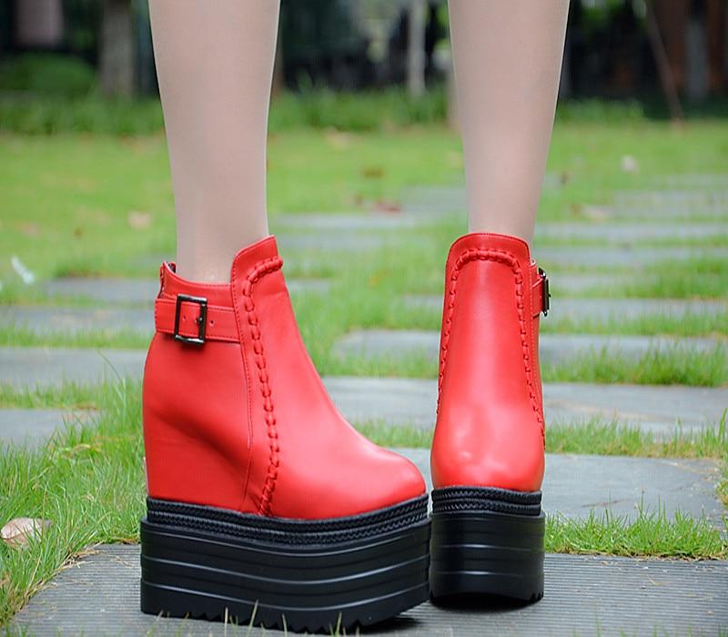 autumn platform shoes women boots high heels martin boot wedges boots sys-1028<br><br>Aliexpress