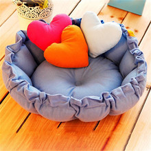 Vogue Adjustable Pets' Bed Circular Dog House Princess Puppy House Pet Nest Pet Kennel Cat Dog Beds Luxury Cat Sofa Dog Nest