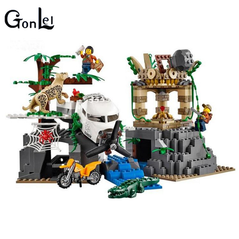 (GonLeI) 02061 New City Jungle Exploration Raiders of the Lost Ark Building Blocks Toys Dream For Children Compatible With <br>