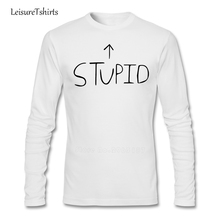 Green Day Stupid Baseball Tee T Shirt Teenage Latest Personality Camisetas 2017 Normal T-Shirt Man Long Sleeve Crew Neck Dad Tee