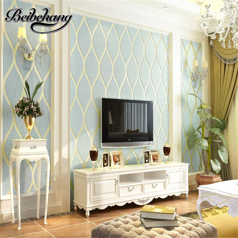 Beibehang papel de parede wallpaper european TV background wallpapers 3d nonwovens modern simple wallpaper bedroom living room<br>