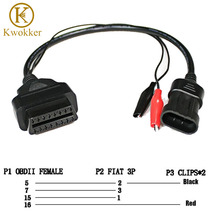 KWOKKER OBD 2 for Fiat Alfa Lancia 3 Pin To OBD 2 Diagnostic Adapter Connector Extension Cable 16 Pin Female Good Quality(China)