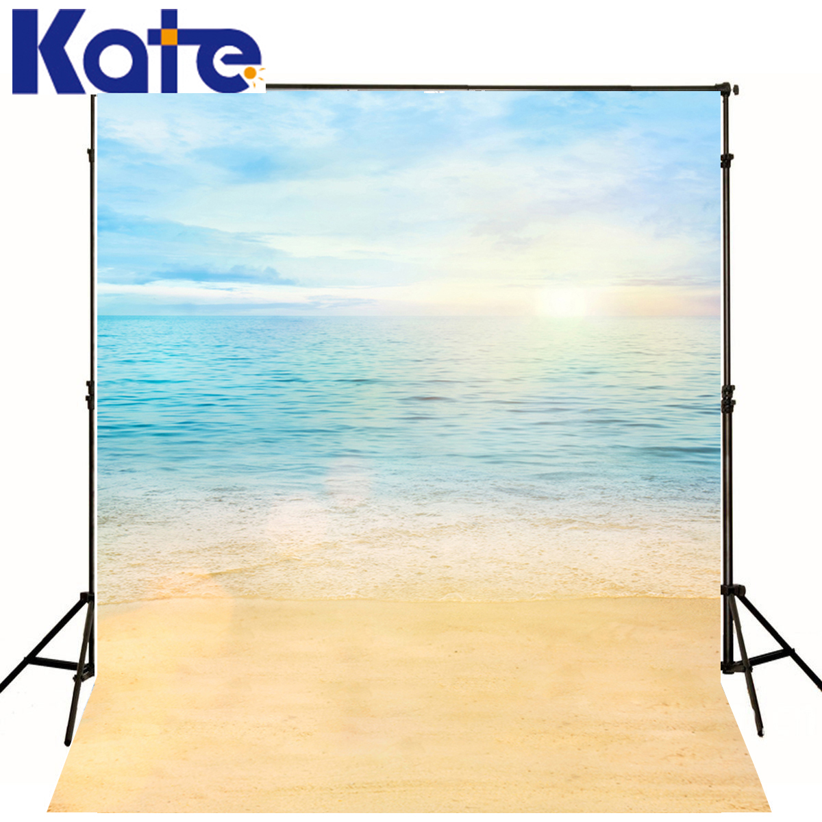 Kate 8x8ft Summer Newborn Background Sea Sunshine Photography Backdrops Children Beach Background for Photography Studio<br>