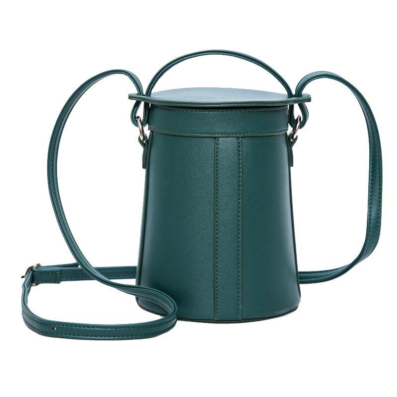 Personalized bucket solid bag women handbag Fashion PU leather Vintage Crossbody Bag Retro Round barrel Shoulder Bag tote bags<br><br>Aliexpress