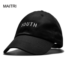 MAITRI 2017 New Adult Baseball Cap Fashion YOUTH Letter Snapback Caps Black White Pink Hat For Men Women casquette homme gorras(China)