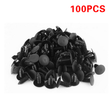 Car Automotive Auto Bumper Fender clips 100 x 8mm Black Plastic Rivet Fastener Push Clips Fender for Car Auto Truck