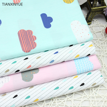 Multicolor Clouds raindrops Cotton Fabric for Home Textile Baby quilts Cushions Sewing Fabric Material Telas to Patchwork