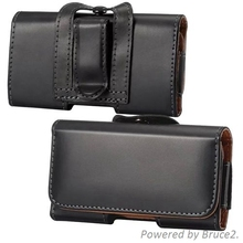 Belt Clip Loop Hip Holster Leather Flip Pouch Case Cover For Samsung Omnia M S7530