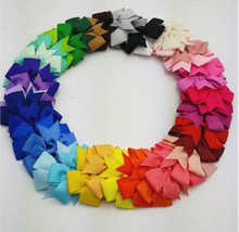 40pcs/lot 8.5*8cm Baby Girl Grosgrain Ribbon Boutique Hair Bows For Teens Baby Girls Babies Toddlers 012004012(China)