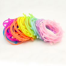 100 pcs / Lot Sweet Candy Silicone Rabbit Ear Hair Rope Elastic Hair Bands For Women Girl Hair Rubber Bands Hair Accessories(China)