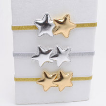 2 Piece/lot Corean Design Pu Star Girls Headbands Hair Accessories Cute Gift Headbands Girls Elastic Head Bands(China)