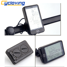 Cycloving large LCD Waterproof Touch Button Wireless Bicycle Speedometer bike Computer Odometer accessory