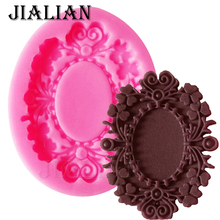 Fine Fashion frame fondant silicone mold love lace for cake decorating tools cupcake kitchen Baking accessories T0644(China)