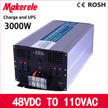 MKP3000-481-C 3000w power inverter 48vdc to 110vac pure sine wave solar inverter voltage converter with charger and UPS(China)
