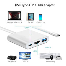 USB 3.1 Type-C to 4K HDMI Adapter, USB 3.0 HUB w 1 Charging Port w PD, Fits for New Macbook 12 inch, Chromebook Pixel and More
