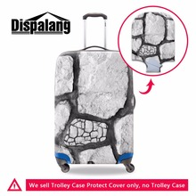 Dispalang novel stone print male dustproof cover travel luggage cover for boy portable elastic stretch covers for 18-30 inch(China)