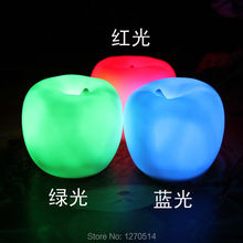 5pcs/lot,Christmas Eve gift, ideas luminous novel small apple, LED night Light,Special gift, send girlfriends,girls and children