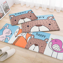 Floor Mats Animal Cat Printed Bathroom Kitchen Carpets Doormats Cat Floor Mat for Living Room Anti-Slip Tapete