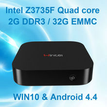 WoYi W8 Win10 mini PC WIN 10 Intel Atom Z3735F quad core 1.33Ghz 2GB/32GB Intel TV box windows 10 mini pc CX-W8 Bluetooth HDMI(China)
