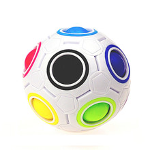 2017 Pop Rainbow Magic Ball Plastic Cube Twist Puzzle Toys For Children's Educational Toy Teenagers Adult Stress Reliever Feat