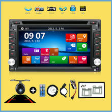 BT Car Electronic Double 2din car dvd Car GPS Navigation DVD Player SD/USB In Dash Radio Media SD Map PC Real Camera