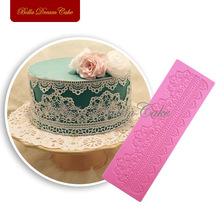 Cake Border Decoration Lace Mat Sugar Lace Pad for Wedding Cake Decoration Silicone Lace Mold DIY Baking Tools Cake ToolsLFM-33