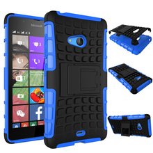 Top Quality Rugged Kickstand Armor Case for Microsoft Nokia Lumia 540 Hard Shock Proof Case With Stand Phone Accessory Funda