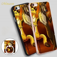 Minason fox and wolf RFTS DAKIMAKURA SAMPLE Soft TPU Silicone Phone Case Cover for iPhone X 8 5 SE 5S 6 6S 7 Plus(China)