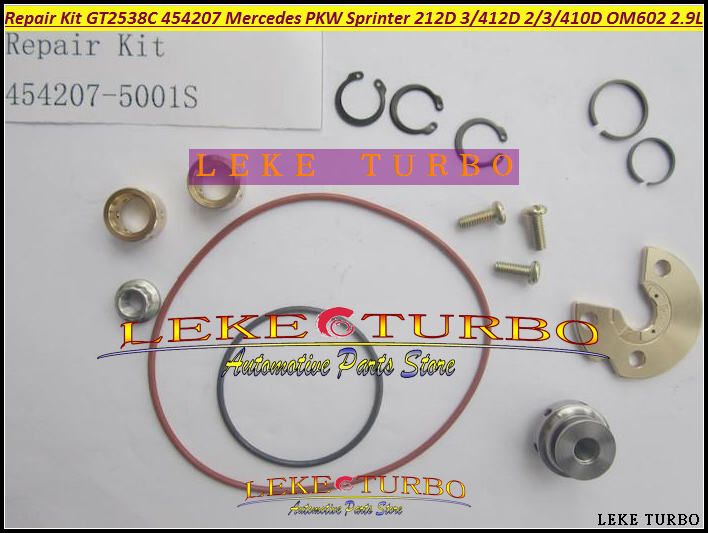 Turbo Repair Kit rebuild GT2538C 454207-5001S 454207 Turbocharger For Mercedes PKW Sprinter 212D 312D 412D 310D 410D OM602 2.9L<br>
