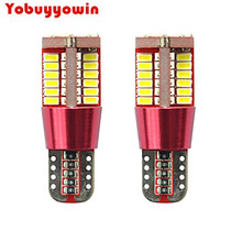 2pcs Free Canbus T10 57-SMD 3014 White LED for W5W 194 168 2825 Car Side Wedge Light Automotive Light Bulbs Replacement Parts