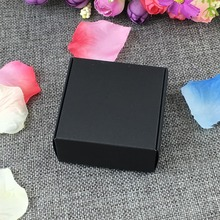 50pcs 7.5*7.5*3cm Gift Kraft Box Jewelry Boxes Blank Package Carry Case Cardboard Display For Accessory Accept Custom Logo