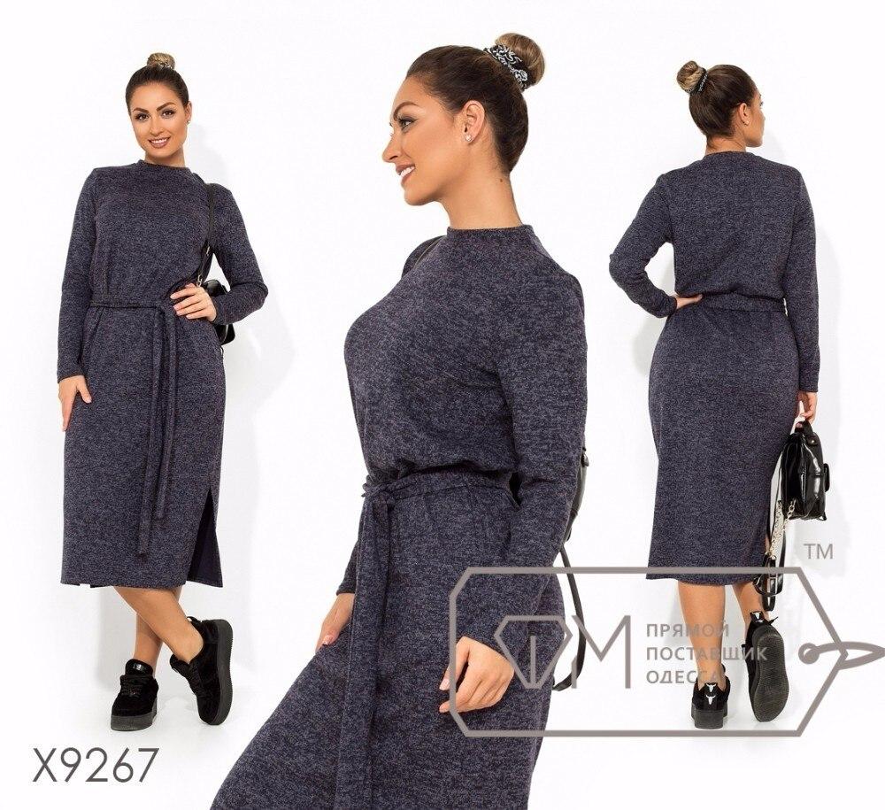 Long Winter Dress Plus Size Dress Long Sleeve Casual Women