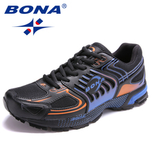 BONA New Arrival Popular Style Men Running Shoes Outdoor Jogging Sneakers Lace Up Male Athletic Shoes Comfortable Sport Shoes(China)