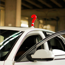 Ornament Auto Roof Decoration Car-styling Accessories Exclamation 3D Car Sticker Question Mark Decoration(China)