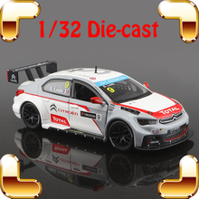 New Year Gift WTCC C-Elysee S.Loeb 1/32 Model Metal Collection Car Sports Metallic Boby Vehicle Match Cars Decoration Souvenir