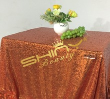 1 DAY SHIP 50''*72'' Orange Sequin Table Cloth For Cake Tablecloth Wholesale Sequin Table Cloths Sequin Linens Sparkle Sequin
