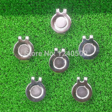 Free Shipping MAGNETIC VISOR & HAT CLIPS for GOLF BALL MARKER, 10 pcs / LOT