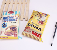 NEW 2Designs - Snack , Butter Cookie Design Coin Purse , 18*10CM PU Kid's Coin Wallet  BAG Case Pouch