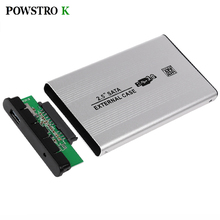 USB 3.0 SATA External HDD Case Silver Aluminum 2.5 Inch Hard Drive Disk Storage Enclosure Box with USB Cable
