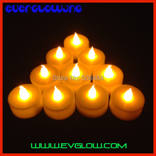 Free Shipping 12pcs Flickering Flameless LED Tealight Candles Light Battery Operated Wedding Birthday Party Christmas Decoration
