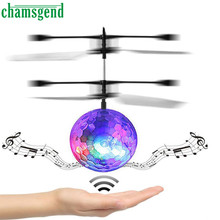 Chamsgend RC Toy EpochAir RC Flying Ball RC Drone Helicopter Ball Built-in Disco Music With Shinning LED Lighting for Kids Dec13(China)