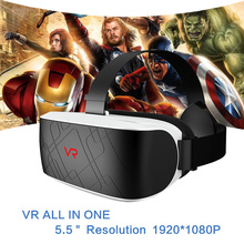 VR 3D Glasses Headset Virtual Reality BOX 5.5 inch Display Goggles Glasses Nibiru Android 5.1 Wifi Bluetooth VR ALL IN ONE