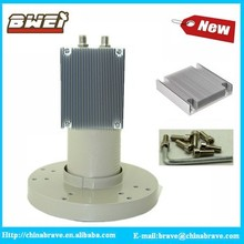 cooling fin type twin output C Band LNB 5150mhz with good heat durable ability for America market